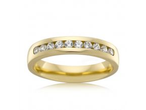 Channel Set Wedding Band 0.30 Carats