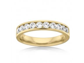 Channel Set Wedding Band 0.50 Carats