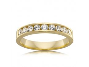 Channel Set Wedding Band 0.54 Carats