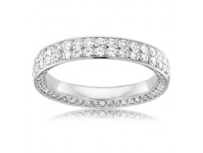 Pave Set Wedding Band 1.5 Carats