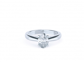Four Claw Oval Solitaire