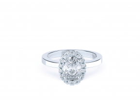 Classic Halo Oval Ring
